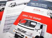 Toyota Fleet Management trade show brochure internal